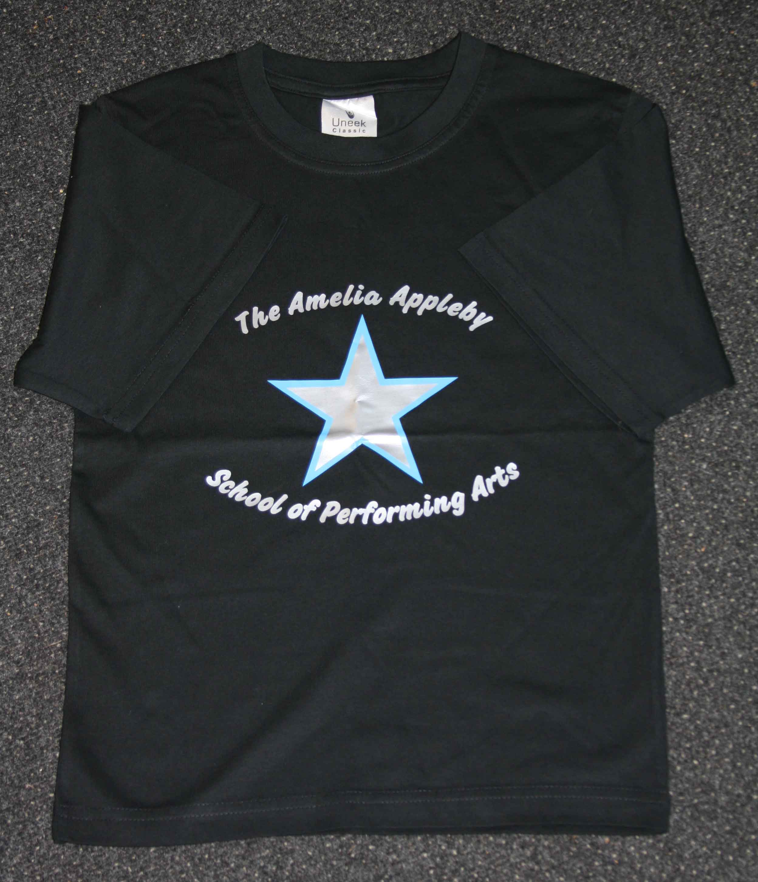 Amelia Appleby School of Performing Arts star t-shirt